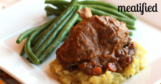Slow Cooker Pork Shanks from http://meatified.com #paleo #whole30 #glutenfree