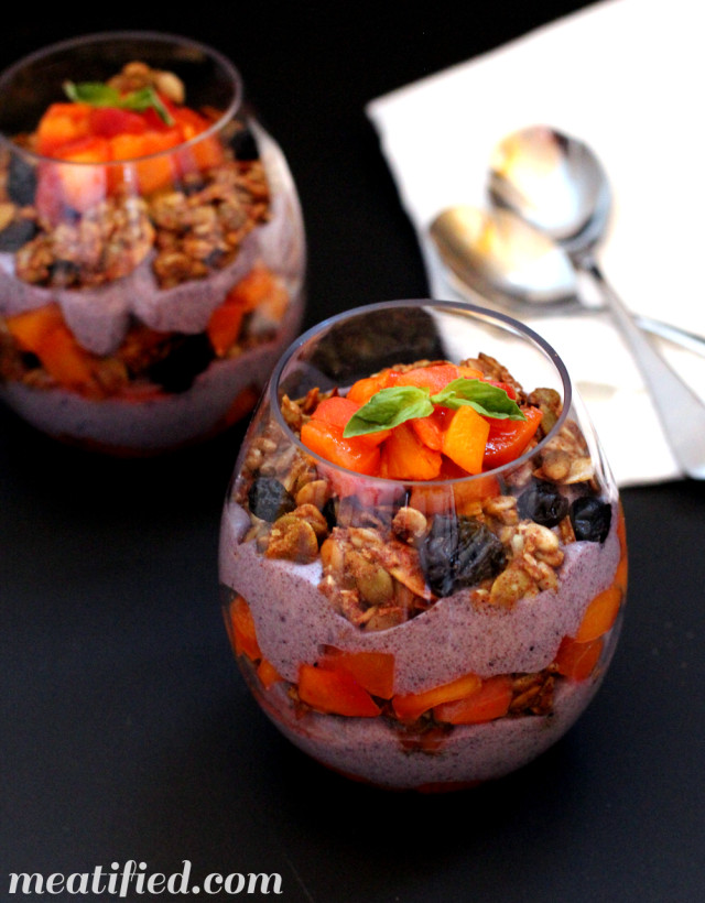 Paleo Yogurt Peach Parfaits from http://meatified.com #paleo #glutenfree #dairyfree