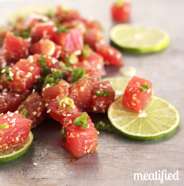 Ahi Tuna Ceviche with Sesame and Mint from http://meatified.com