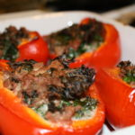 Turkey Kale Stuffed Peppers