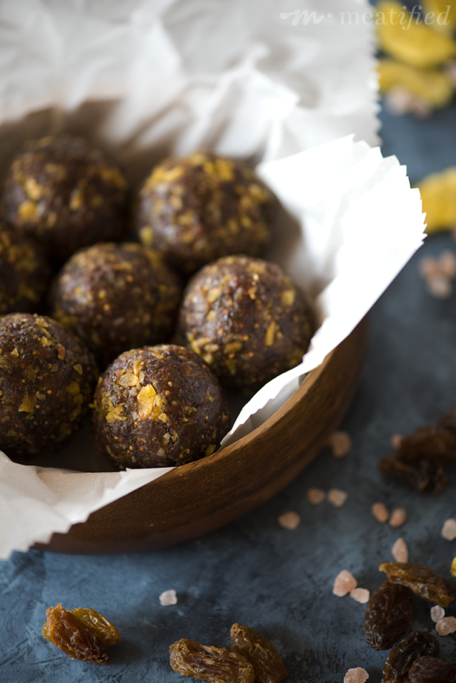 Energy balls; so much more fun than bars! These little guys from http://meatified.com are grain, gluten, nut & seed free, so they're the perfect allergy friendly bite for on the go!