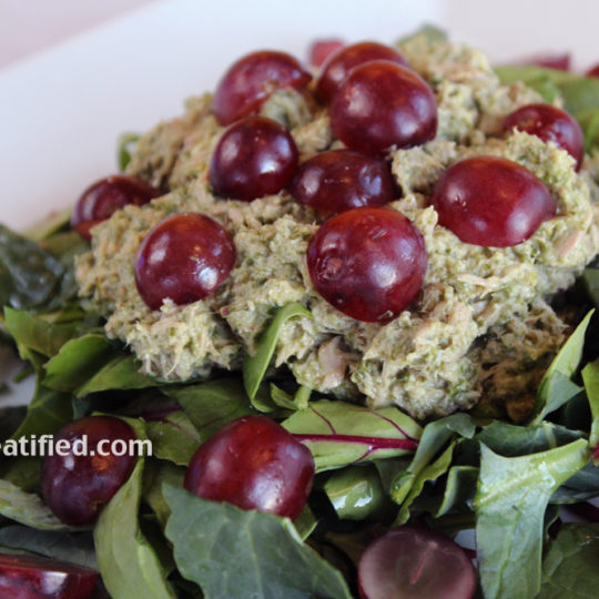 Mayo-less tuna grape salad