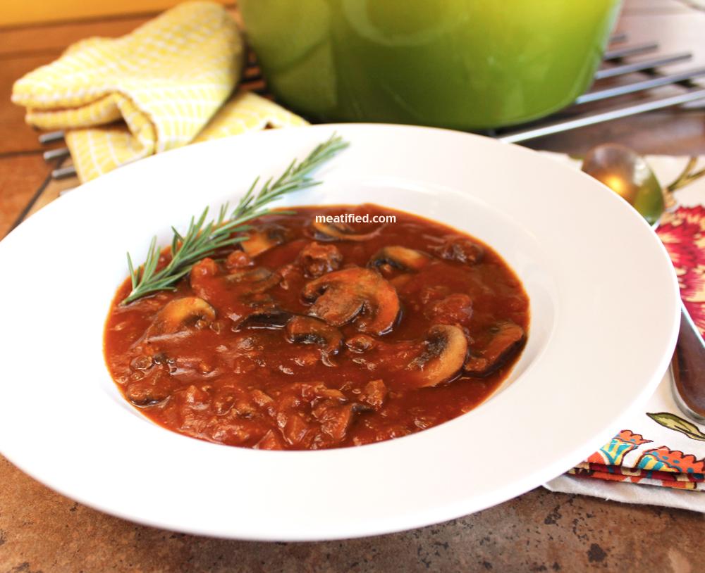 beef and mushroom soup