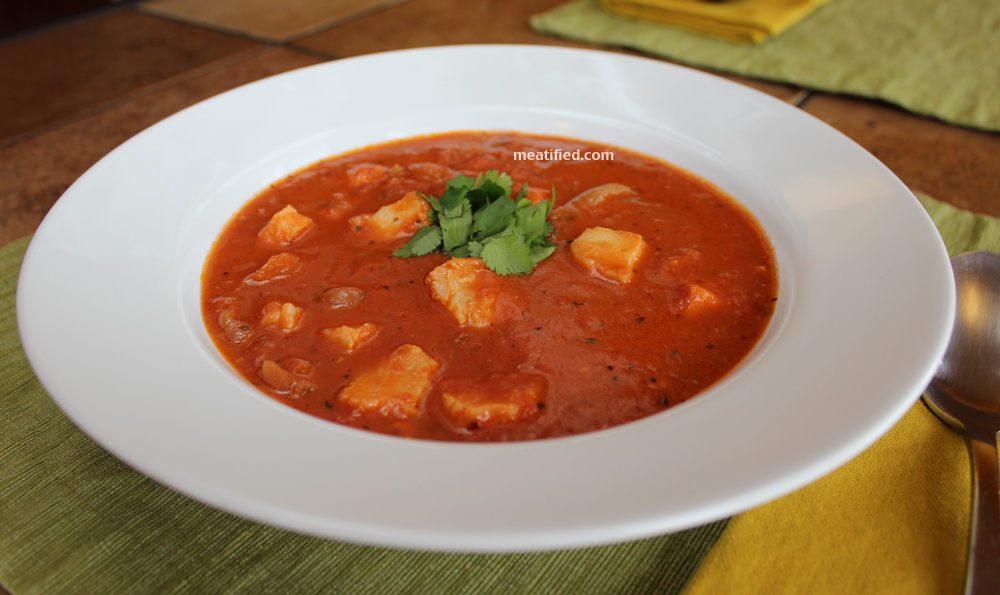 Jazzed up tomato soup