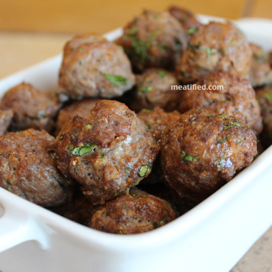 Mini Thai Meatballs