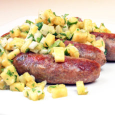 Sausages with Pineapple Salsa