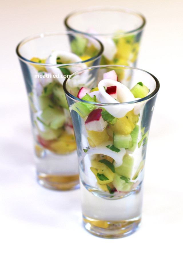 Calamari Ceviche Shooters from http://meatified.com #paleo #nightshadefree #whole30