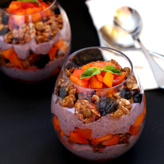 Paleo Yogurt Peach Parfaits