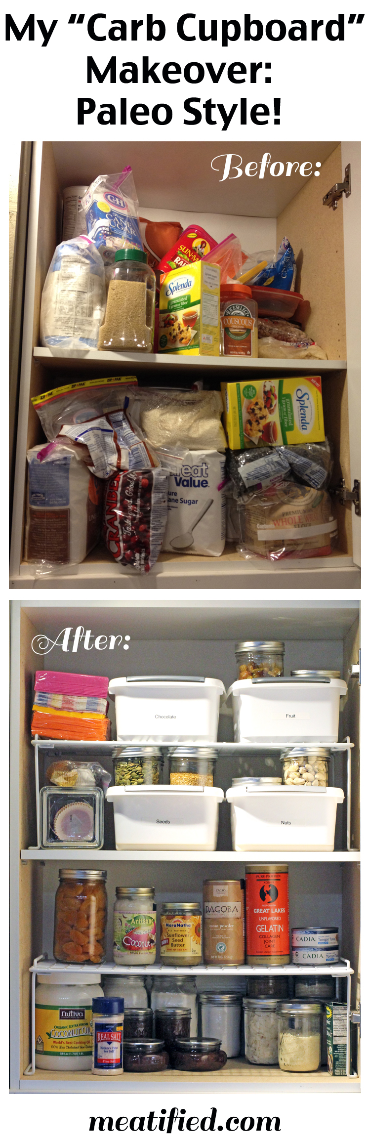 My Paleo Pantry Makeover, Part 1: The Baking Cupboard | http://meatified.com