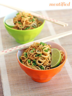Garlic Ginger Parsnip Noodles