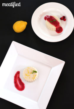 Paleo White Chocolate Mousse with Lemon Zest and Cranberry-Apple Compote from http://meatified.com