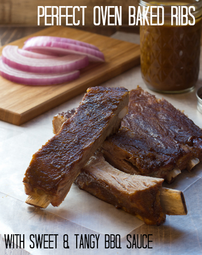 Perfect Oven Baked Ribs with Sweet & Tangy BBQ Sauce