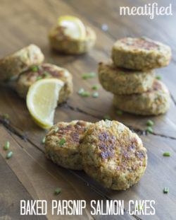 Baked Parsnip Salmon Cakes from http://meatified.com #paleo #aip #autoimmune #whole30