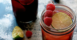 Berry Fizz Mocktail with tart cherry, pomegranate and raspberry from http://meatified.com {Paleo, AIP}