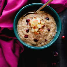 Apple & Cranberry Paleo Oatmeal