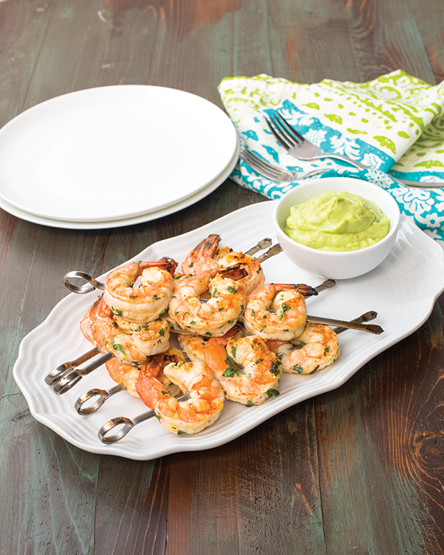 Cilantro Lime Shrimp with Avocado Puree from The Paleo Cupboard Cookbook | http://meatified.com
