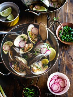 Thai Clams in a Coconut, Ginger & Lime Broth from http://meatified.com. Dairy free, paleo, Whole30 and AIP friendly!