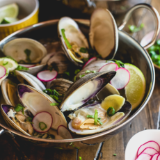 Thai Clams in a Coconut, Ginger & Lime Broth