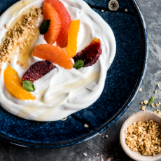 Citrus Yogurt Bowls with Ginger Crumbles, Honey & Mint