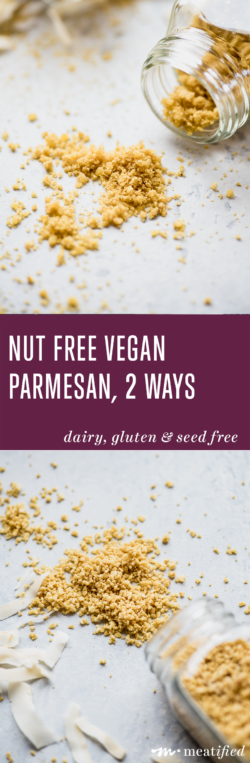 """A twist on the classic """"nooch & nut"""" combo, these nut free vegan parmesan sprinkles from http://meatified.com are perfect on salads, soups & anywhere you used to enjoy grated parm!"""