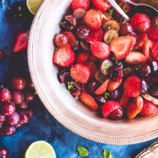 Sour, Spiced & Salted Summer Fruit Salad
