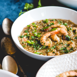 This nightshade free shrimp etouffee from https://meatified.com is the ultimate comfort food dish even though it's grain and dairy free. Serve it over rice or cauliflower rice, or enjoy a bowl on its own as a simple & hearty one pot dinner.
