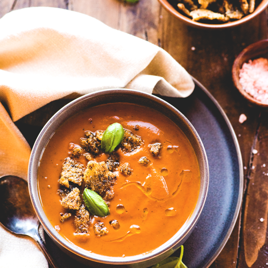If you can't tolerate nightshades but crave a bowl of classic tomato soup anyway... this tomato-less tomato soup from https://meatified.com will come to the rescue! This recipe has the tangy, rich flavors that you've been missing without tomatoes in your kitchen.