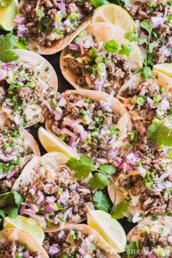 Because everyone deserves tacos, these Beef Soft Tacos with Garlic Slaw from https://meatified.com are 100% grain, gluten & dairy free, as well as paleo & AIP friendly. Oh, and delicious. Really, really delicious.