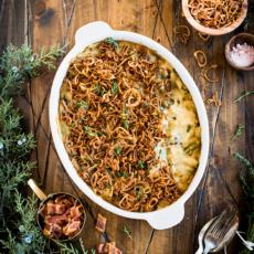 Green Bean Casserole with Crispy Shallots (Gluten, Dairy & Nut Free)