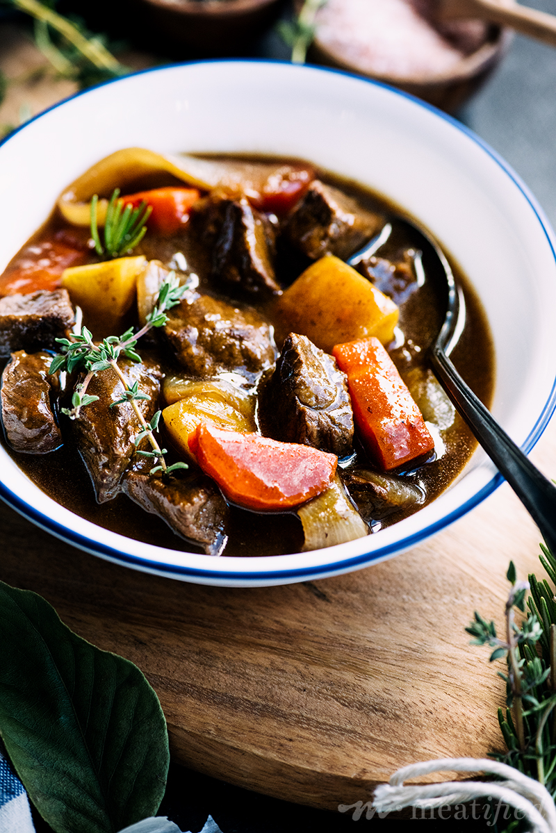 This comforting take on Irish Stew from https://meatified.com is as rich as the original, but skips the gluten & nightshades. A delicious one pot meal to warm you from the inside out.