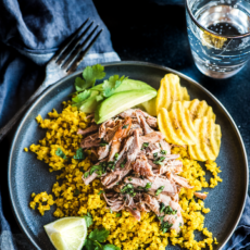Cuban Pork Bowls with Mojo & Yellow Cauliflower Rice